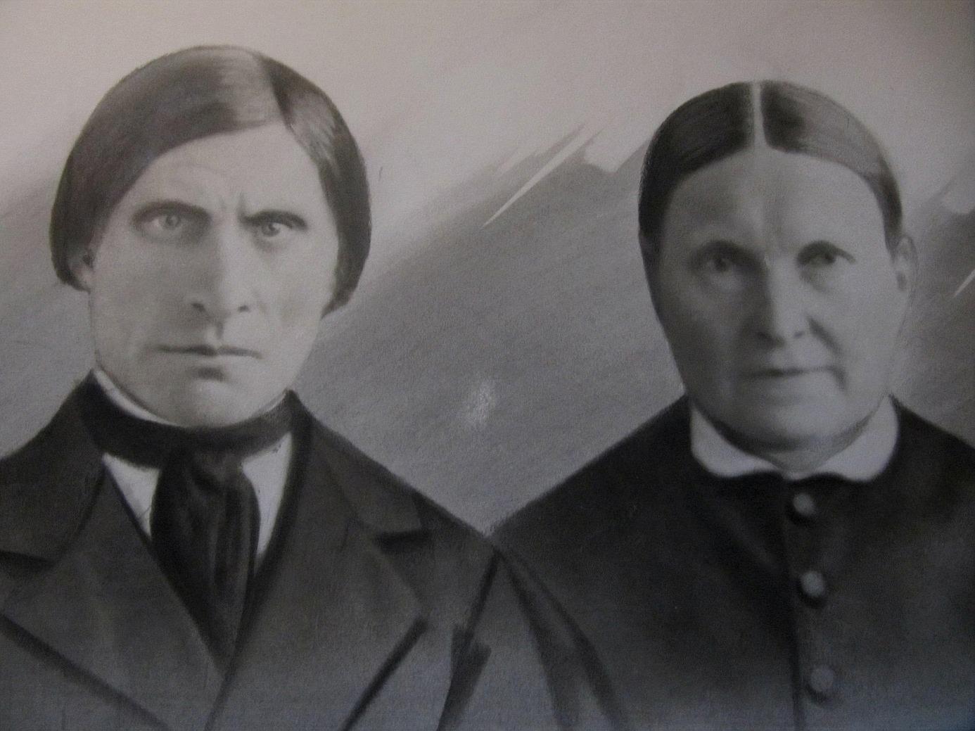 Nog ser han bildad och respektingivande ut på fotot, Pelas-Josip här tillsammans med sin hustru Anna Kajsa.