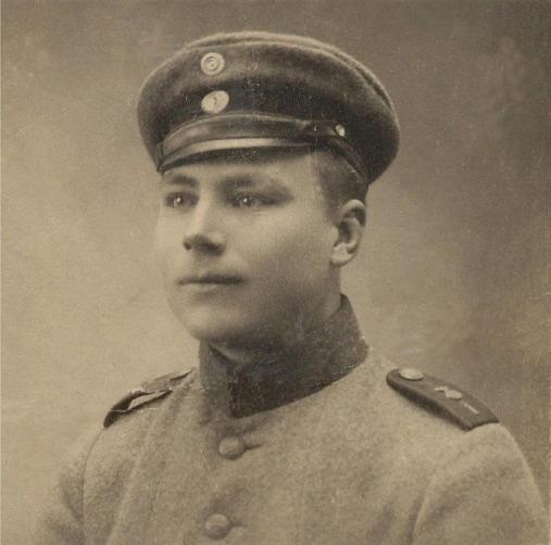 Här Selim Lillkull i armén. Han kallades både Krook-Selim och Rebeck-Selim.