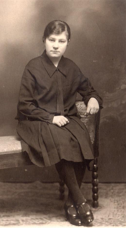 Svea Solfvin i unga år.