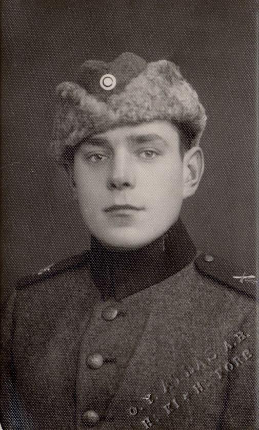 Här Alfred Solfvin i militären i början på 30-talet.