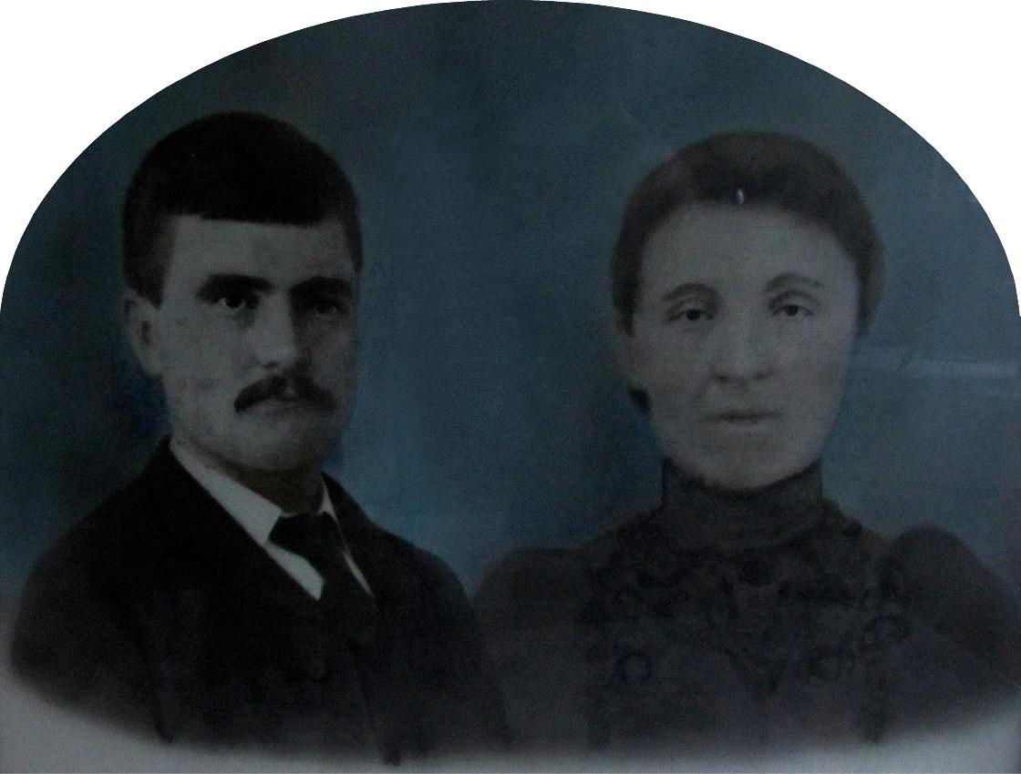 Porträtt av det unga paret Josef och Maria Backlund.