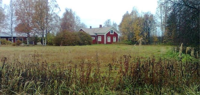 Frans Grönlunds gård fotograferad från öster.