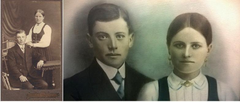 På bilderna Emil och Ida Backlund i unga år.