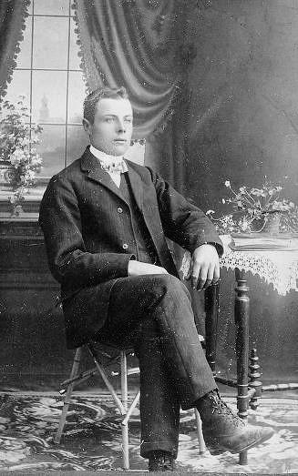 Skriftskolfoto av Frans Grönlund 1906.
