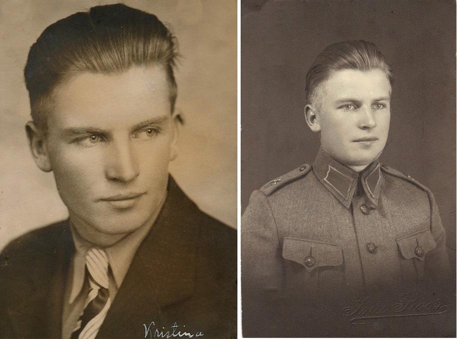 Här ovan Eskil Backlund (1916-1944) som år 1938 tjänstgjorde vid Nylands Regemente på Sveaborg utanför Helsingfors.