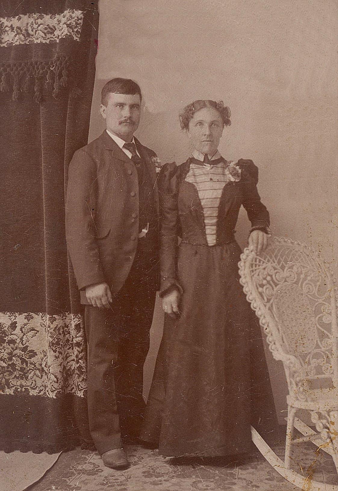 På fotot Josef Backlund och hans hustru Maria.