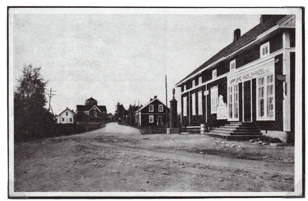På bilden den nybyggda affären, som öppnades i december 1922.