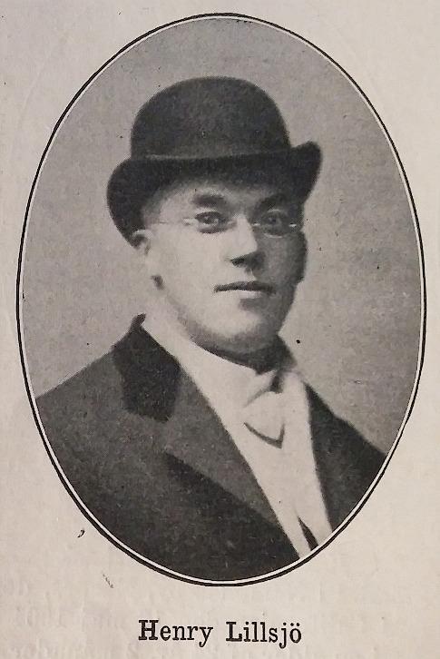 """Henry Lillsjö (Boken """"Hälsning från Amerika"""", 1905,s. 185)."""