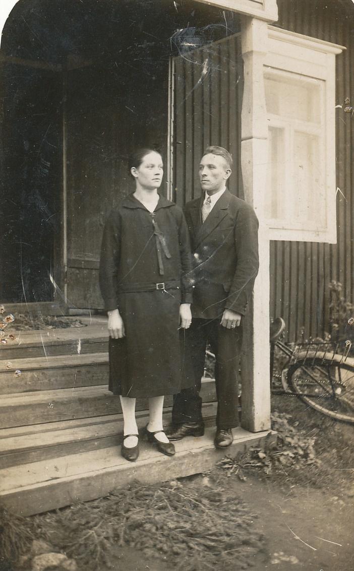 Helmi och Arthur Lövholm i unga år.