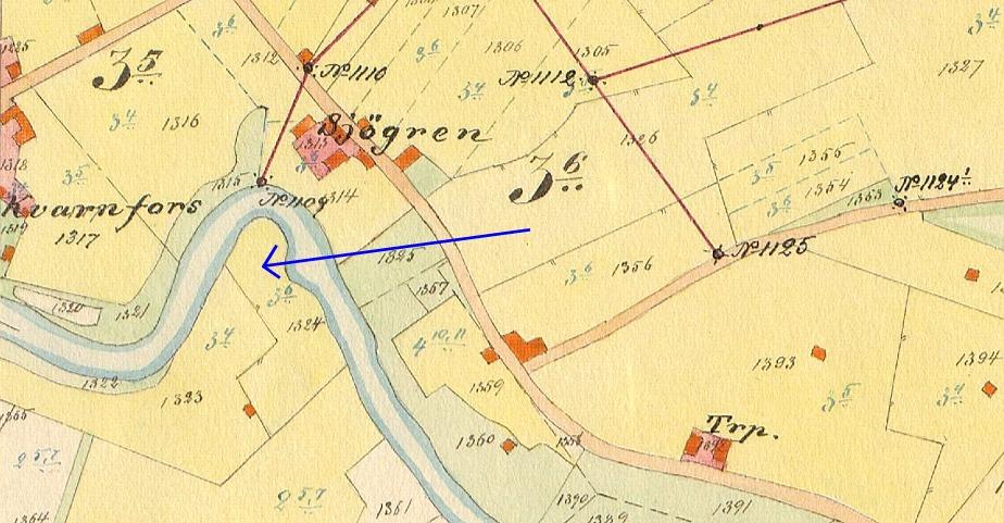Precis som namnet säger har det i Kvarnå funnits en kvarn i tiderna. Den var belägen på Malarudden mittemot nuvarande Kvarnå Såg.