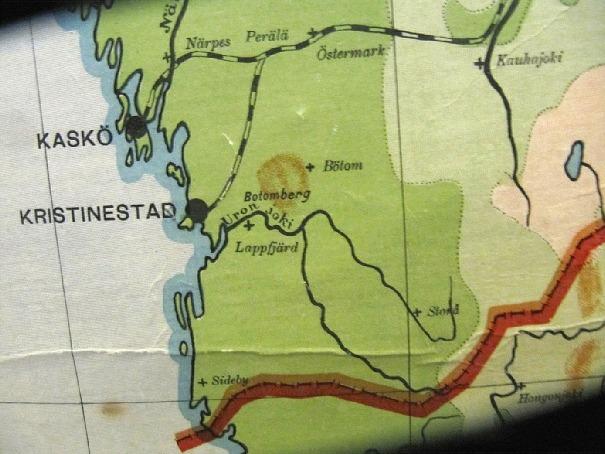 På sträckan från Dagsmark till havet kallas ån för Lappfjärds å medan den från Dagsmark upp till källorna på Lauhavuori kallas för Isojoki. På en karta över Finlands järnvägar från år 1921 ser vi dock att ån kallas för Uronjoki.