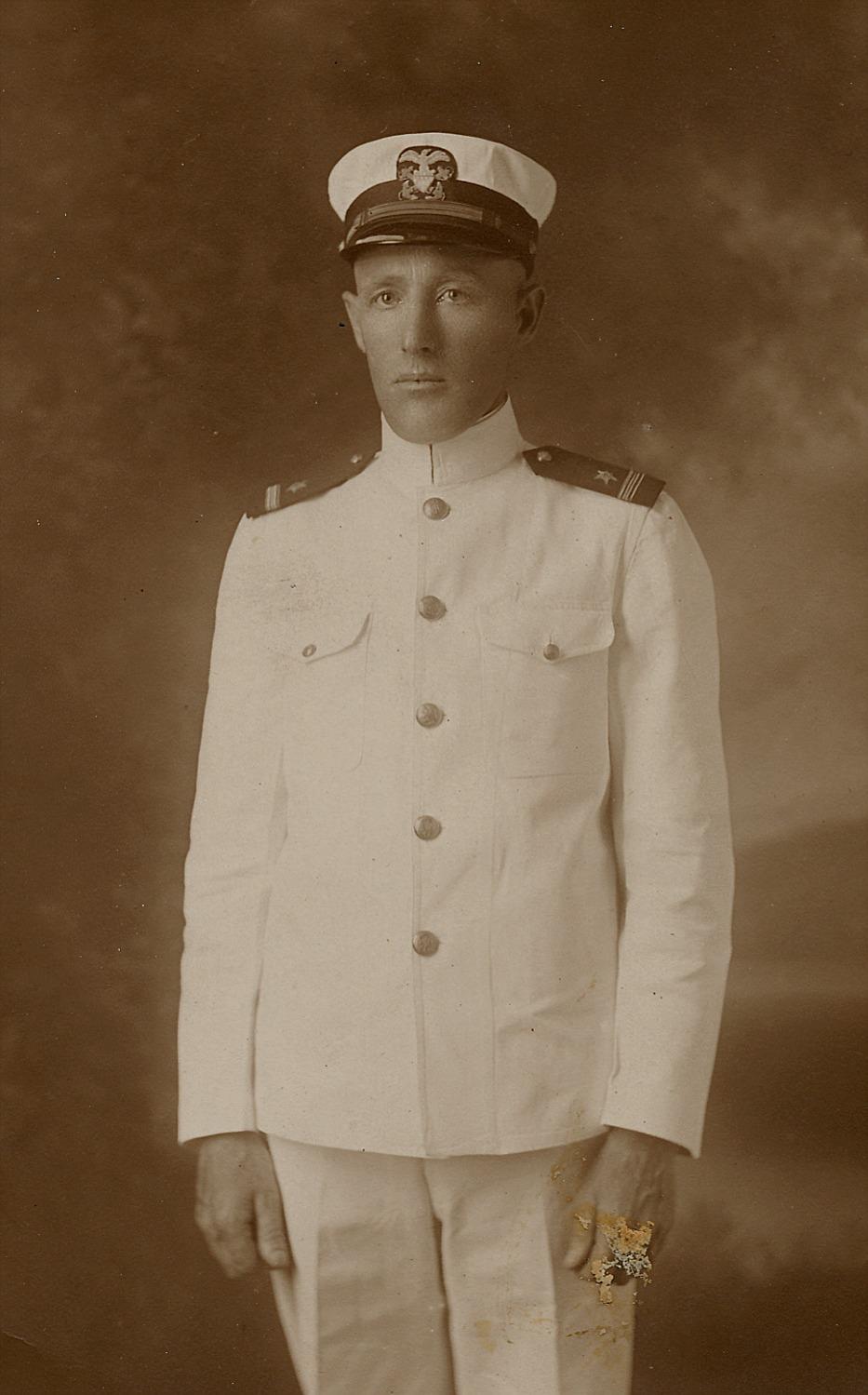 Kapten Nelson i USA Navy 1914-1918.