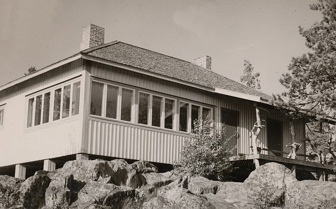 Frans Storkull var aktivt med och byggde Bötombergsstugan som kunde invigas år 1957.