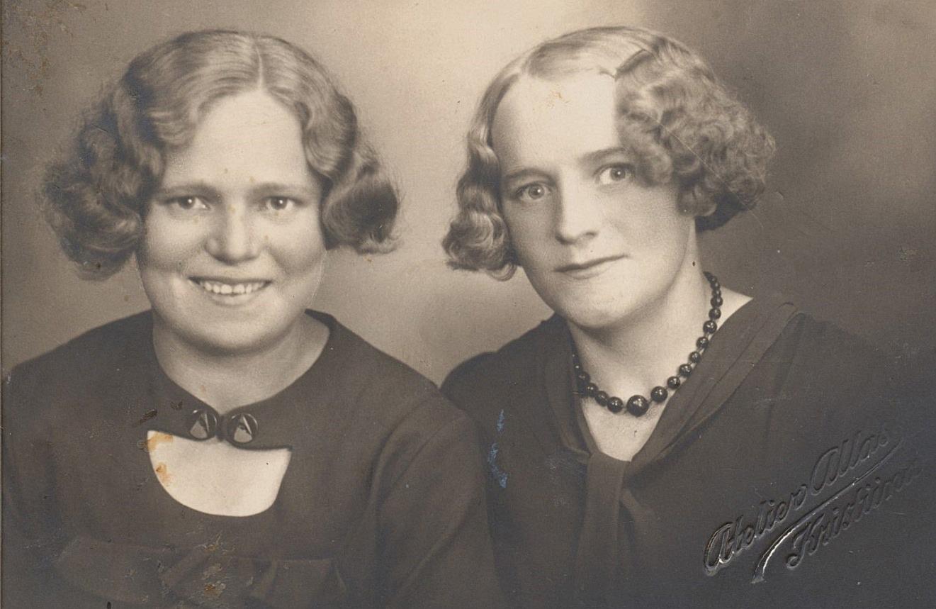 Här systrarna Elin och Elna Storkull.
