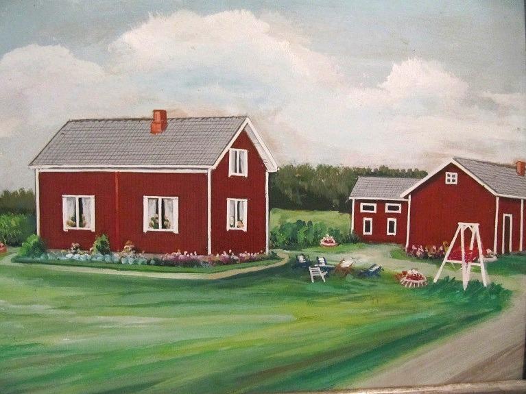 Gården målad av konstnären Rosblom.