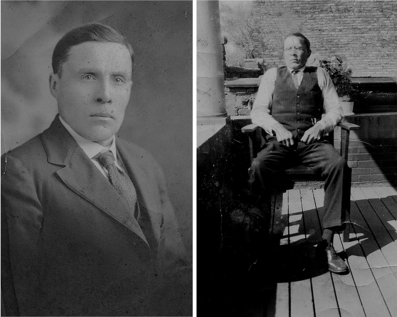 Erik Anders Broberg vistades i Amerika under åren 1905-1912 och sedan for han på nytt 1917. Han återvände till Dagsmark och han var gift 4 gånger.