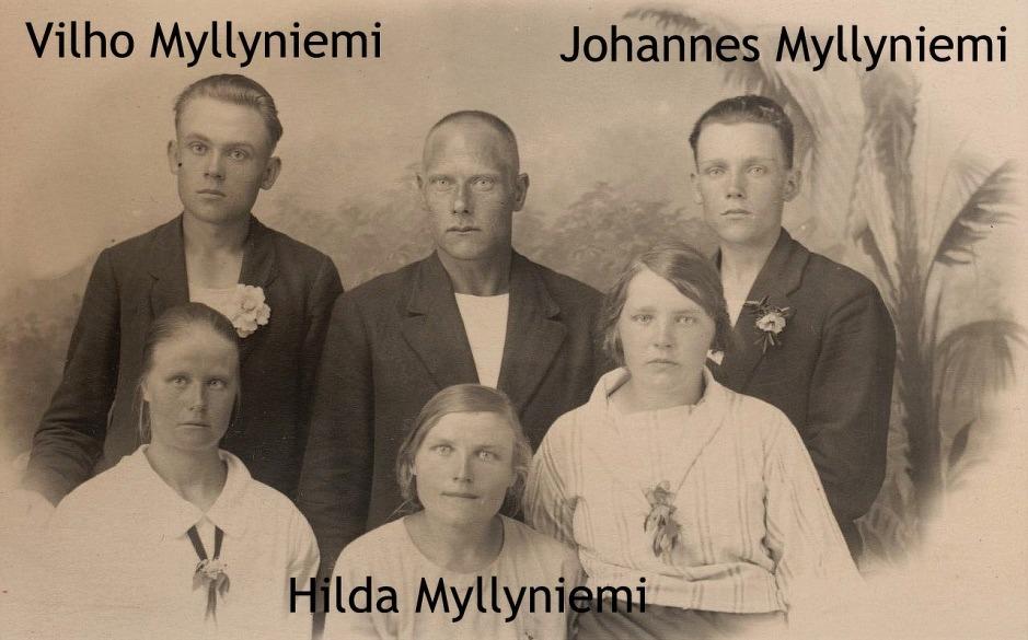 På bilden 3 av Oskar Myllyniemis barn, de 3 andra är tillsvidare okända.