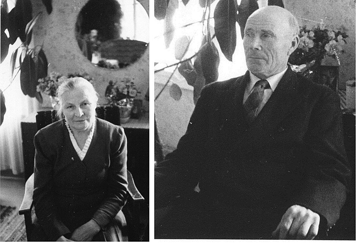 Hilma och Johannes Hällback, foton från 1961 då Johannes fyllde 70 år.