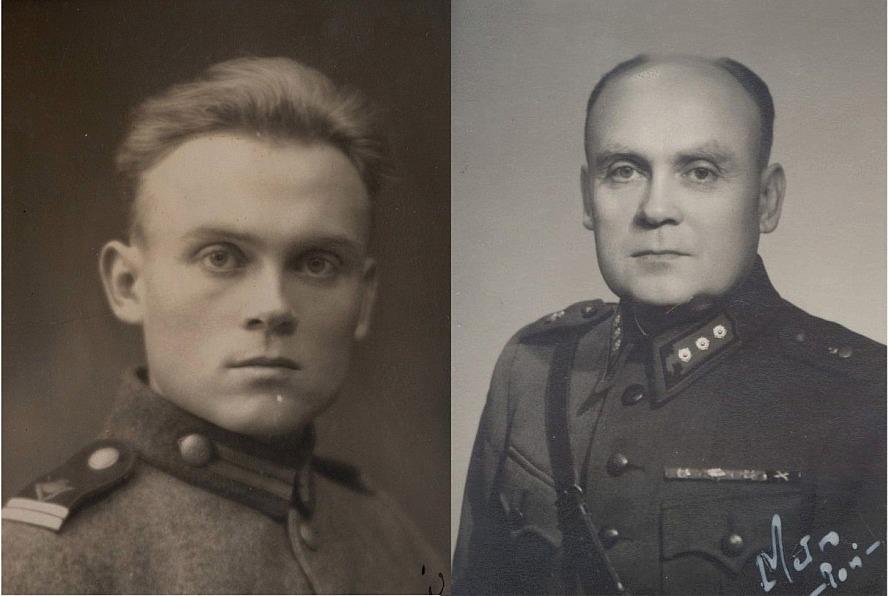 Här Vilho Myllyniemi, f. 1909 som avancerade till kapten i den finska armén.