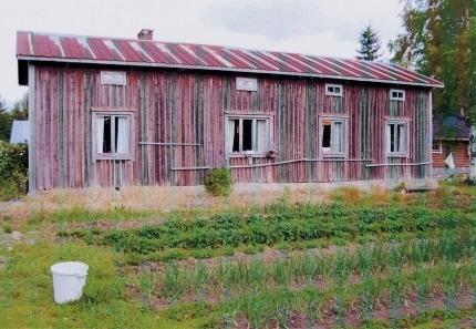 Här Helvi Santamäkis födelsehem i Bötom.