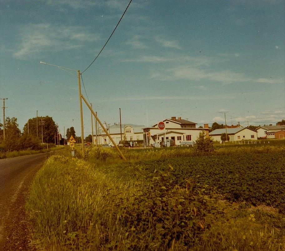 Dagsmark centrum år 1970, foto från väster.