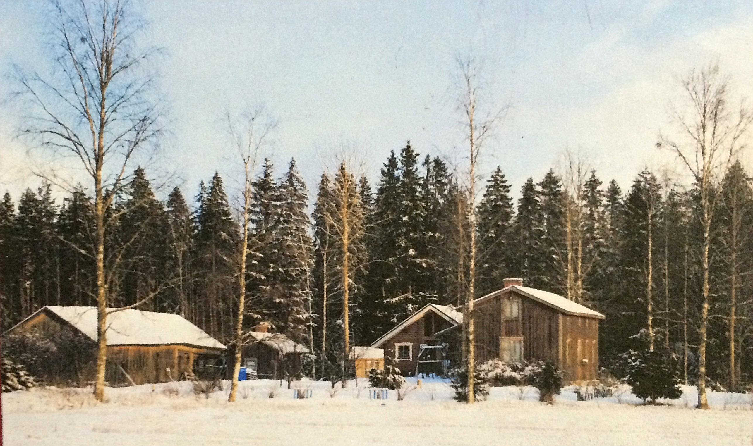 I denna gård i Bötom bodde Knut och Hilda Santamäki i slutet på 20-talet då dottern Helvi föddes.