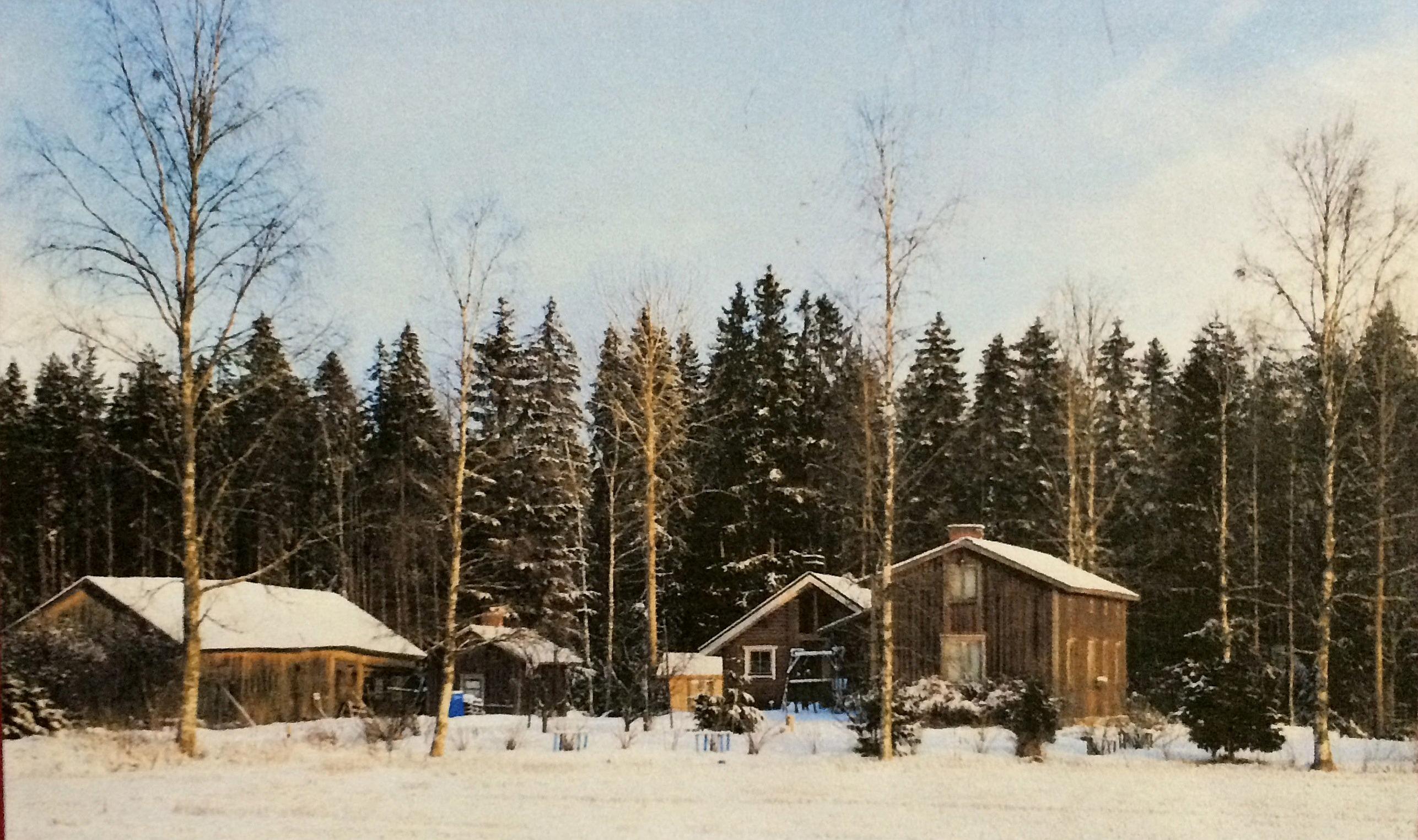 Santamäkis släkt kom från denna gård i Bötom.