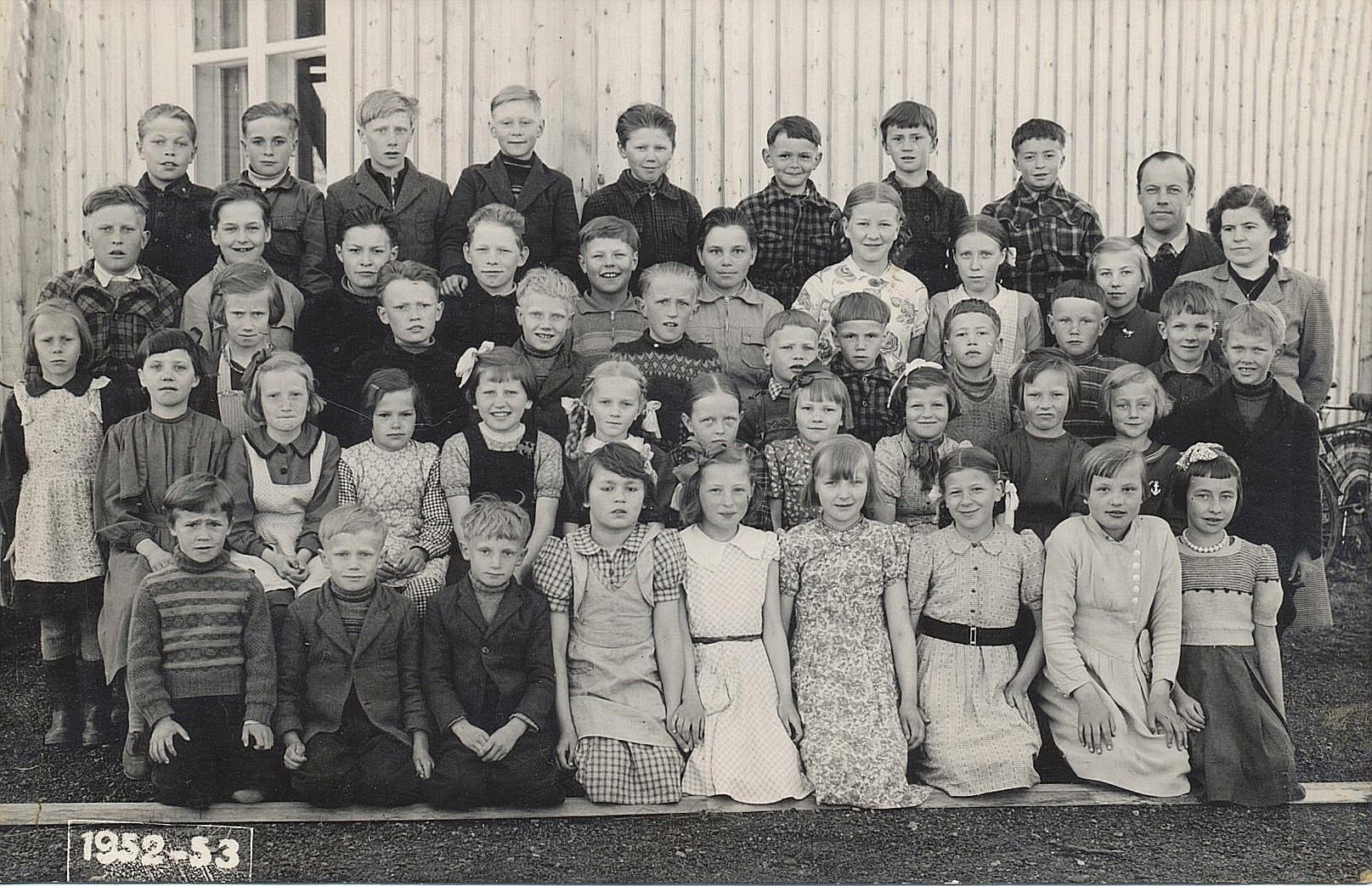 Eleverna 1952-53.