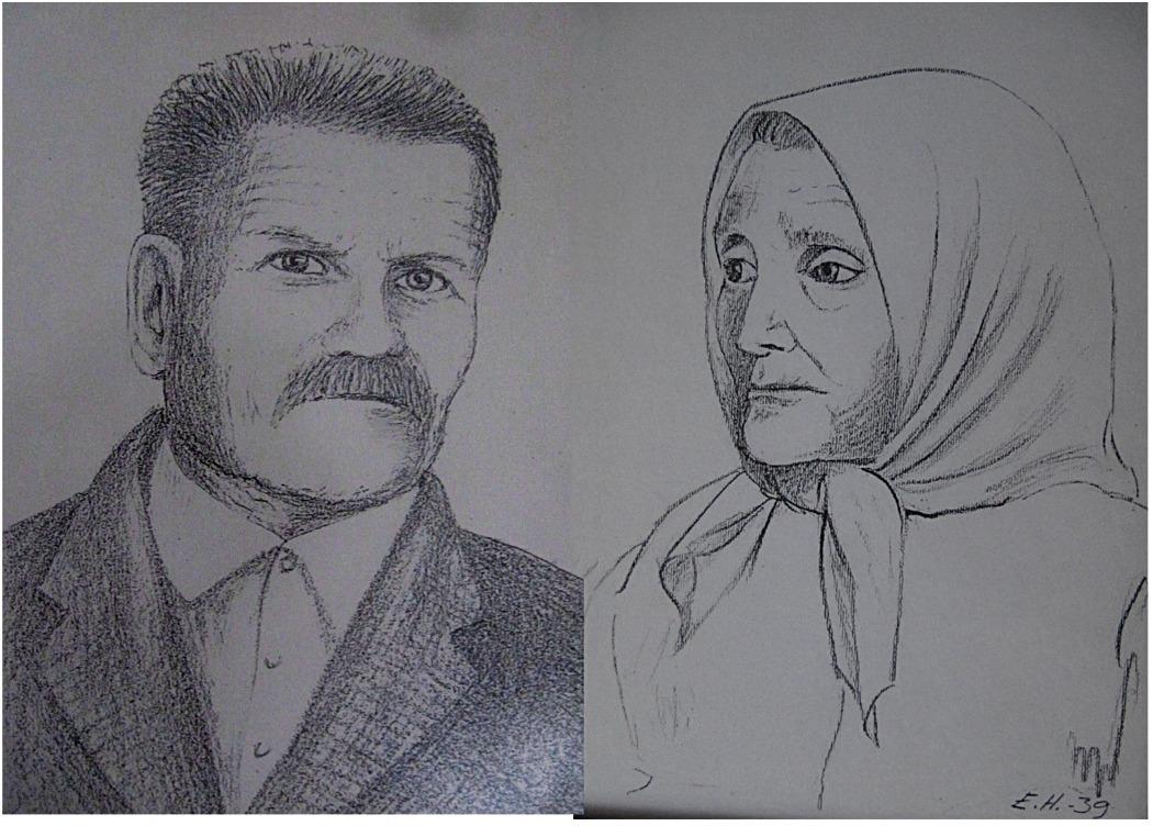 Haajamos porträtt av Oskar och Vilhelmina Myllyniemi.