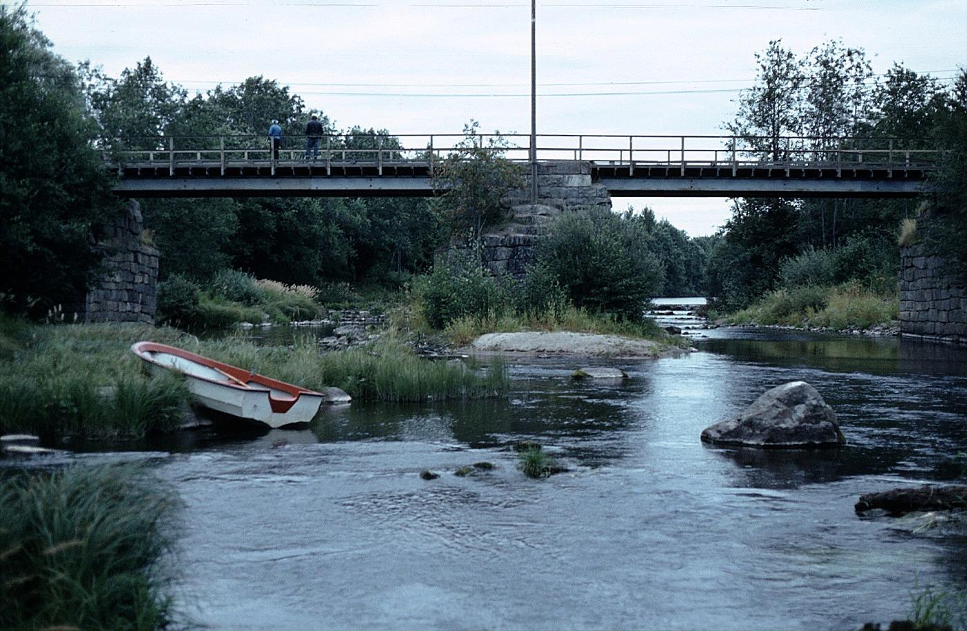 Här Storabron fotograferad 1983 västerifrån just före den revs.