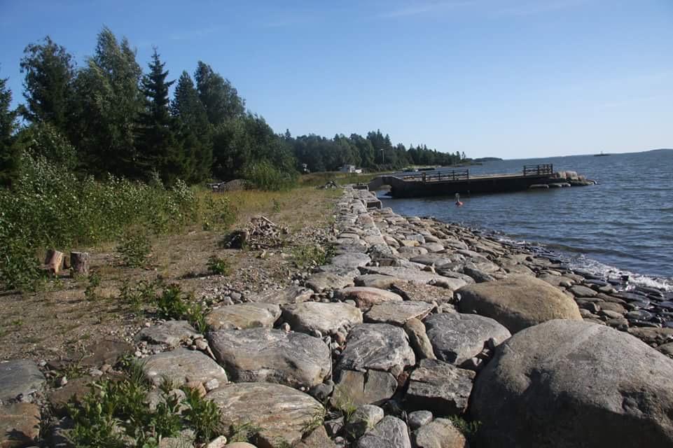 Här en typisk strandskoning som Jukka är mästare på, denna finns längs med Inre faret i Kristinestad.