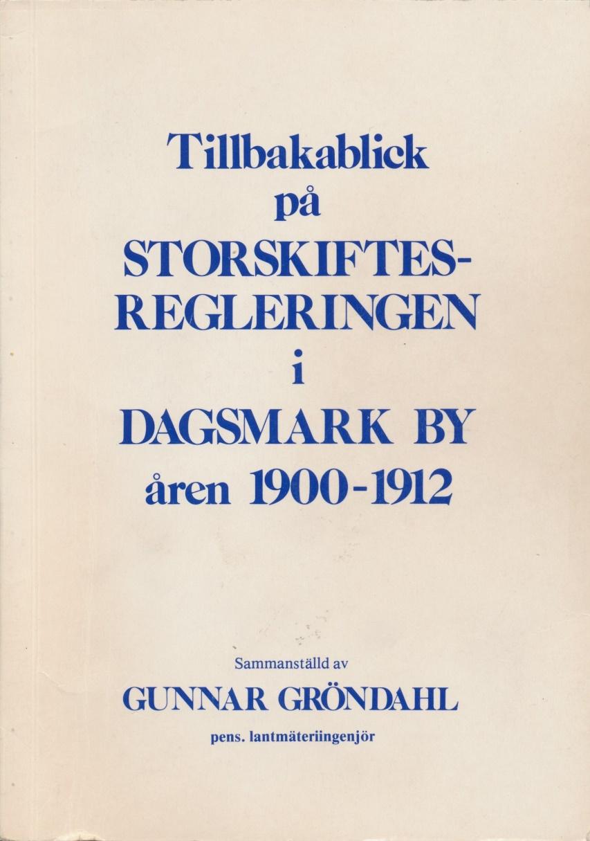 Så här ser pärmen ut på boken som trycktes på Närpes Tryckeri och utkom 1984 i 300 exemplar. Den är på över 100 sidor och här finns direkta citat och fakta plockade ur skifteshandlingarna. Gunnar hoppades att denna dokumentation skulle vara till nytta för framtida forskare.
