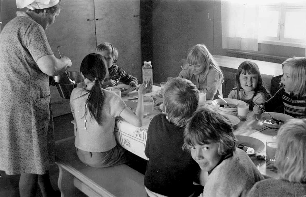 Margit Rosengård arbetade under flera år som köksa på folkskolan i Dagsmark.