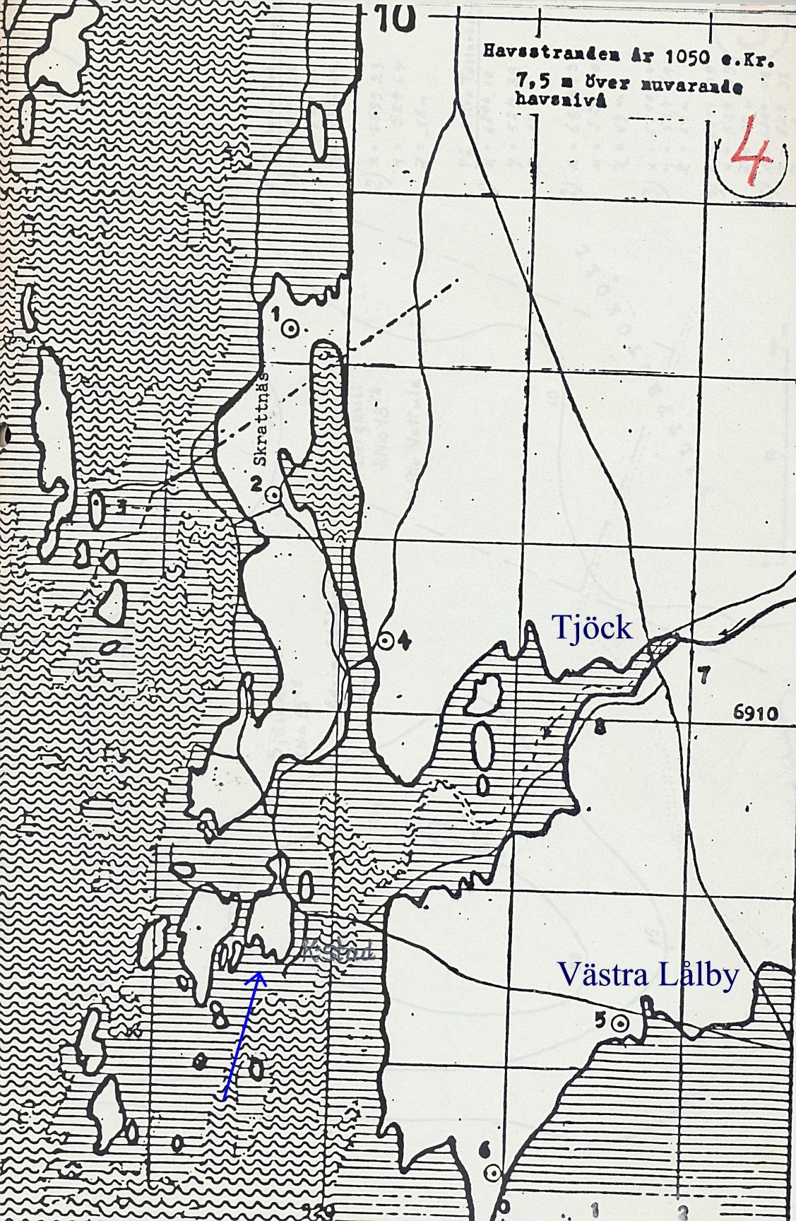 För 1000 år sedan var Koppön en fiskarby och stora delar av Tjöck och Lappfjärd låg fortfarande under vatten.