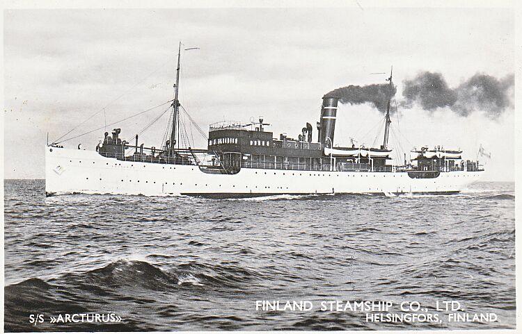 Här ett postkort av det berömda fartyget.