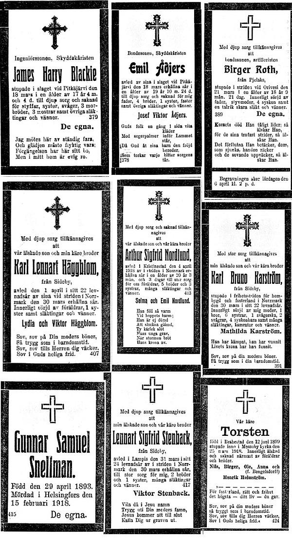 1918 dödsannonser 2
