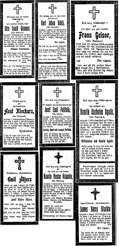 1918 dödsannonser 3