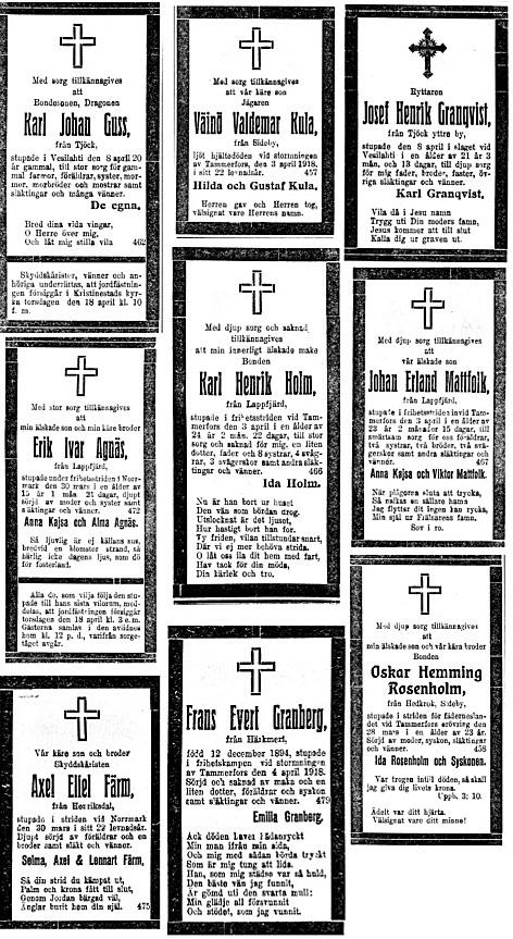 1918 dödsannonser 5