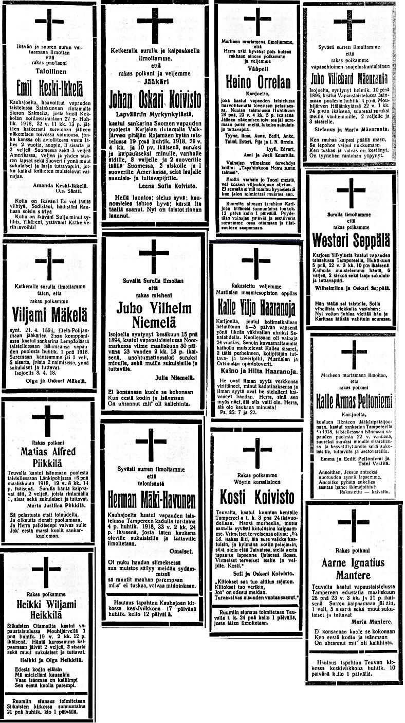 1918 dödsannonser 7