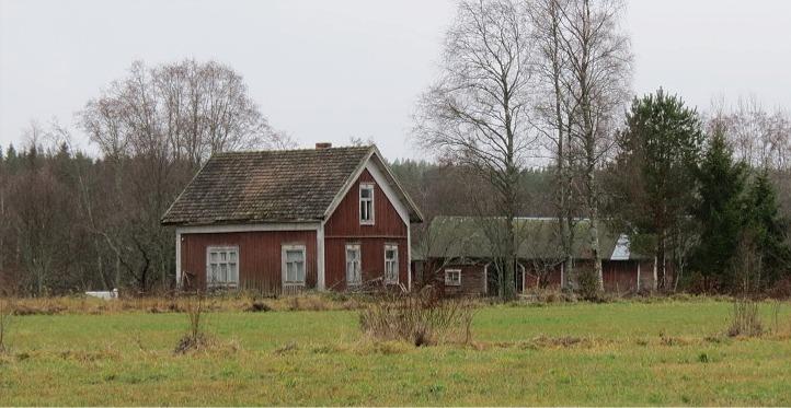 Westerback Karl Henriks hus fotograferat från vägen år 2013.