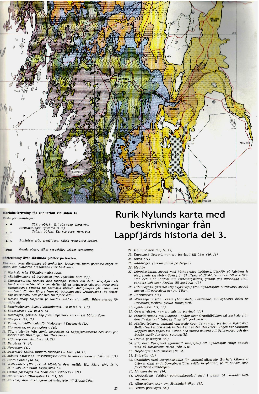 Rurik Nylunds karta över Dagsmark och grannbyarna.