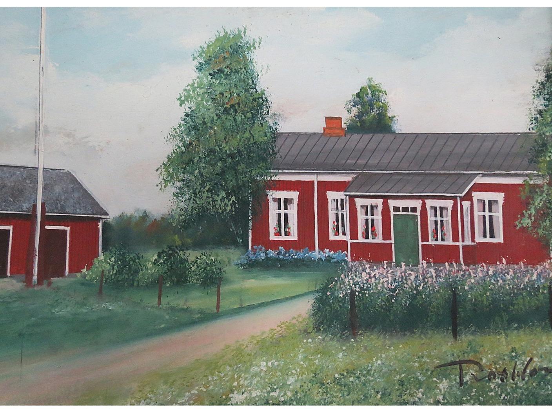 Enligt konstnären Rosblom såg Nyholms gård ut så här.