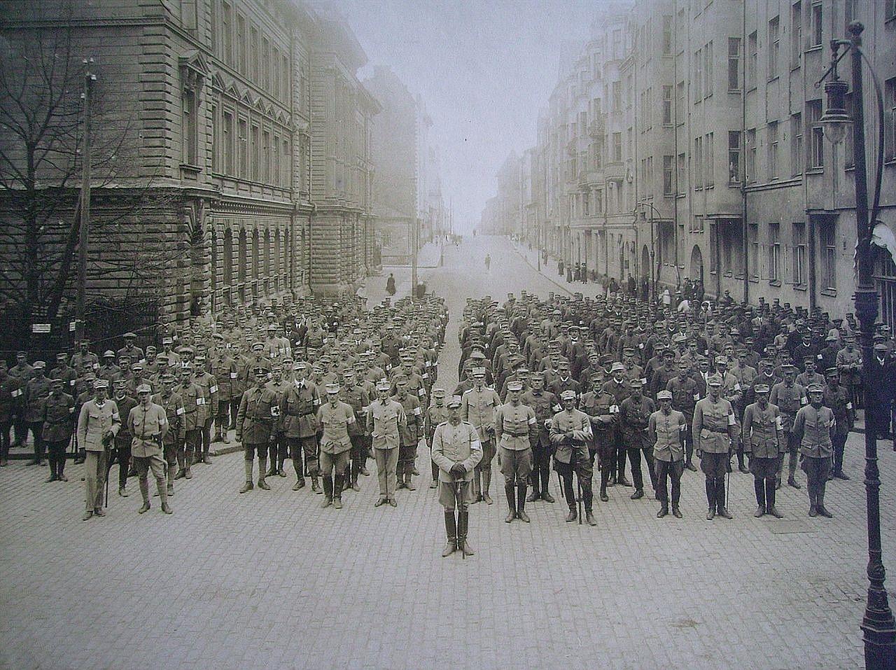 Den Svenska Brigaden bestod av enbart frivilliga soldater, både officerare och manskap. Omkring 400 svenskar ingick i den men därtill fanns ett minst lika stort antal frivilliga rikssvenskar som tog värvning direkt i den finska armén. 31 rikssvenskar stupade i Tammerfors och 55 sårades.