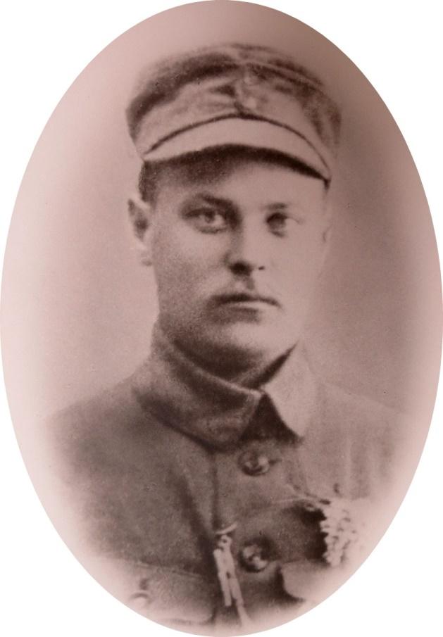 På fotot Emil Klåvus, en av soldaterna i det omtalade Melins kompani.