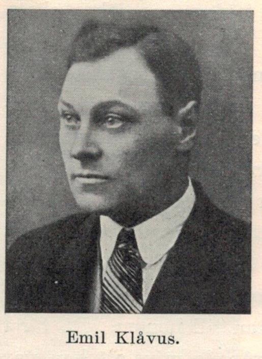 Foto av Emil Klåvus är taget ur boken om Melins kompani.