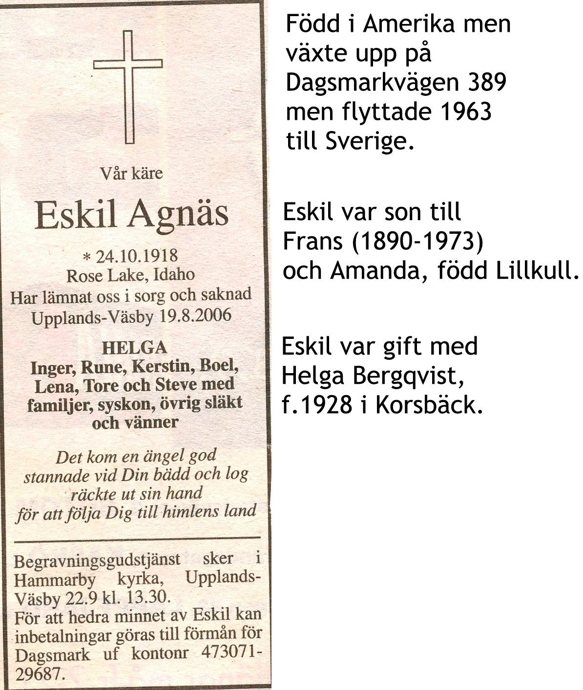 Agnäs Eskil