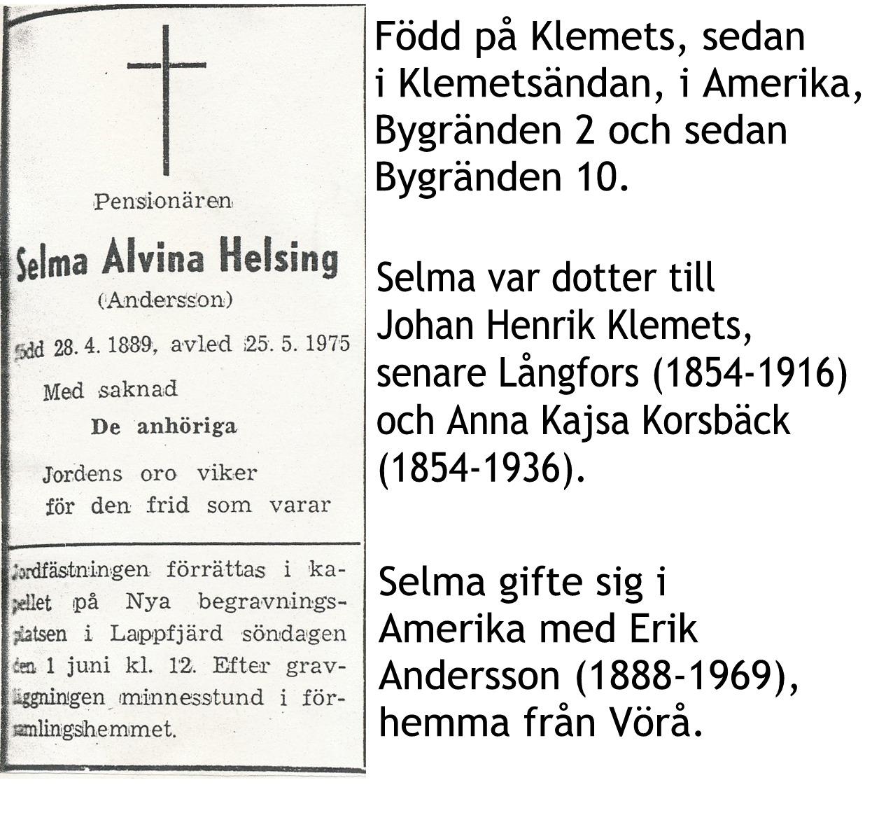Andersson Selma Helsing