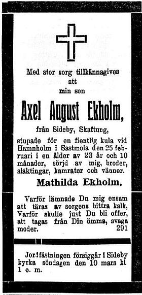 Ekholm Axel August