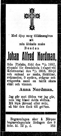 Nordman Johan Alfred