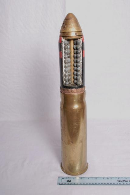 Dylika explosiva granater spred mycket förödelse under krigen i slutet på 1800-talet fram till det andra världskriget.